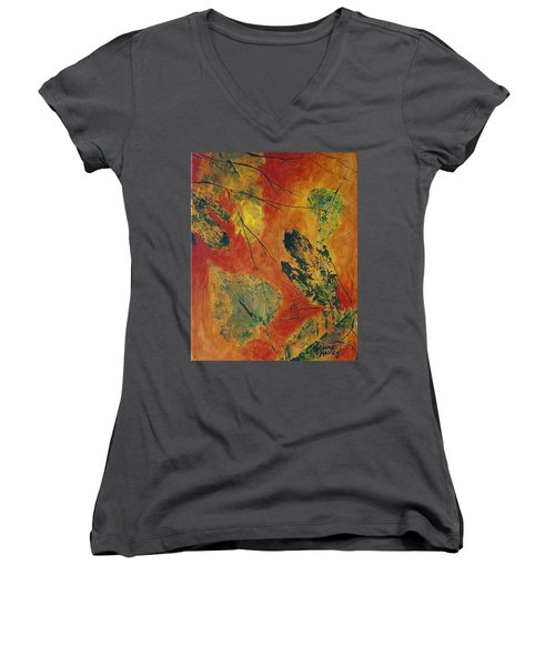 Warm Release Women's V-Neck T-Shirt