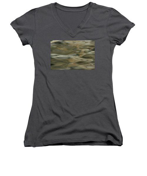 Women's V-Neck T-Shirt (Junior Cut) featuring the photograph Water And Rocks  by Cathie Douglas