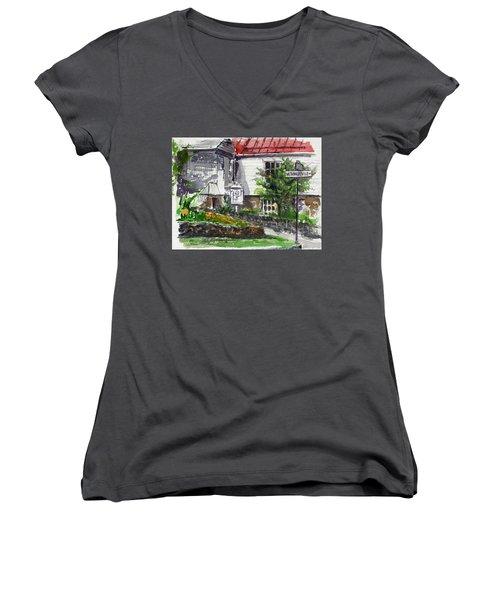 Wetheredsville Street Women's V-Neck T-Shirt (Junior Cut)