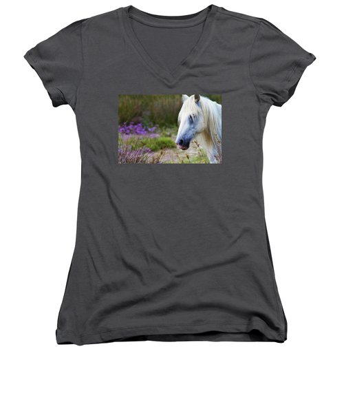 White Horse Women's V-Neck