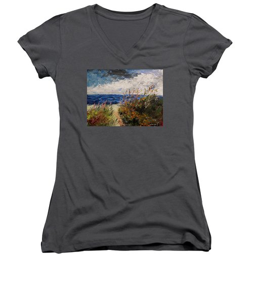 Wildflowers And Wind Women's V-Neck (Athletic Fit)