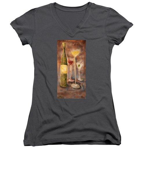 Wine Or Martini? Women's V-Neck T-Shirt