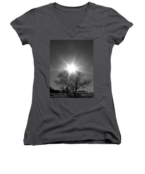 Winter Light Women's V-Neck T-Shirt