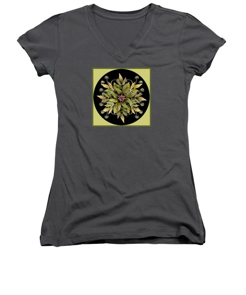 Winter Mandala Women's V-Neck