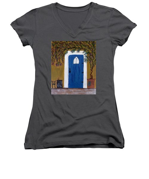 Wisteria Winery Women's V-Neck (Athletic Fit)