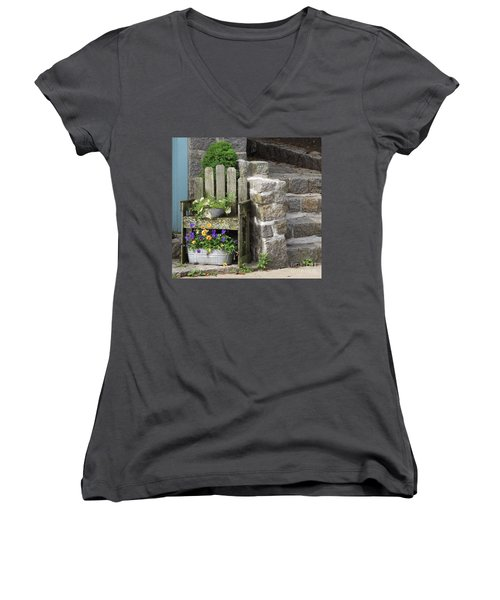 Wood And Granite Women's V-Neck (Athletic Fit)