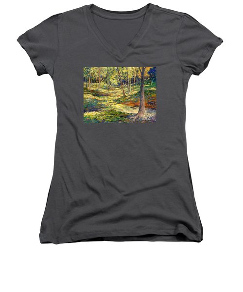 Woods In Ohio Women's V-Neck (Athletic Fit)