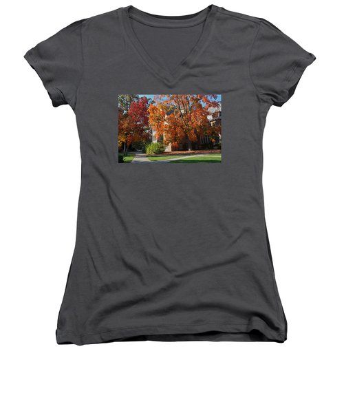 Women's V-Neck T-Shirt (Junior Cut) featuring the photograph WPA by Joseph Yarbrough