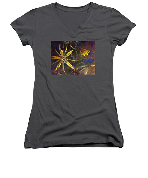 Yellow Passion Women's V-Neck (Athletic Fit)