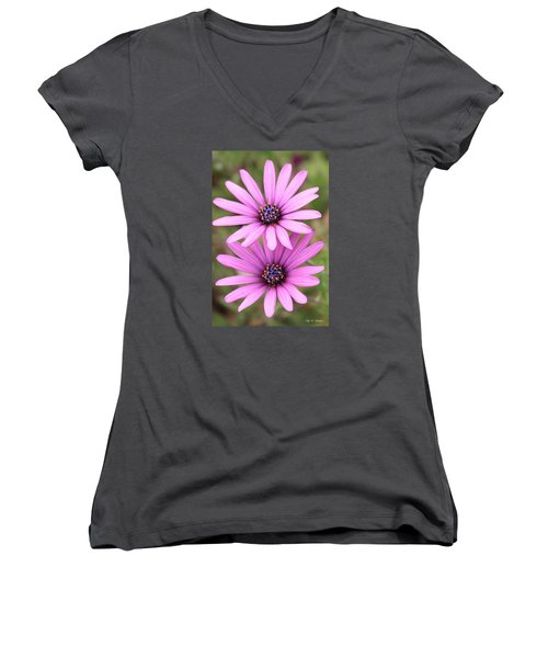 You And Me  Women's V-Neck T-Shirt (Junior Cut) by Amy Gallagher