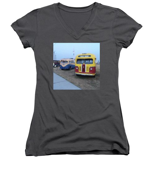 Retro Bus Women's V-Neck