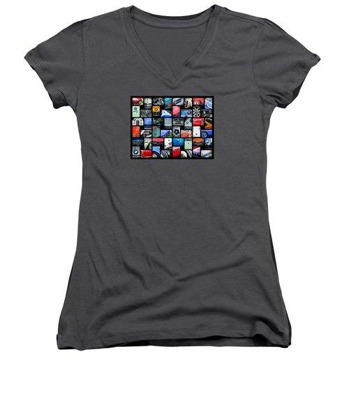 Bmw Art -01 Women's V-Neck T-Shirt (Junior Cut) by Jill Reger