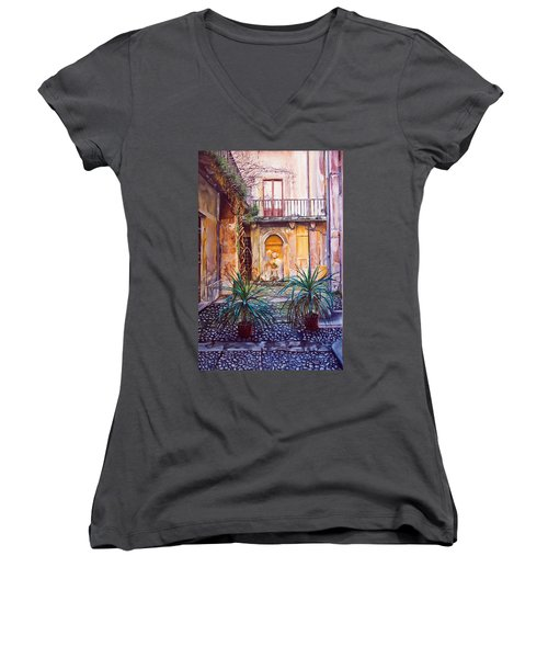 Courtyard Women's V-Neck (Athletic Fit)