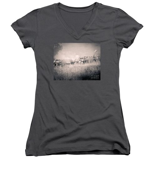 Gettysburg Confederate Infantry 9112s Women's V-Neck (Athletic Fit)