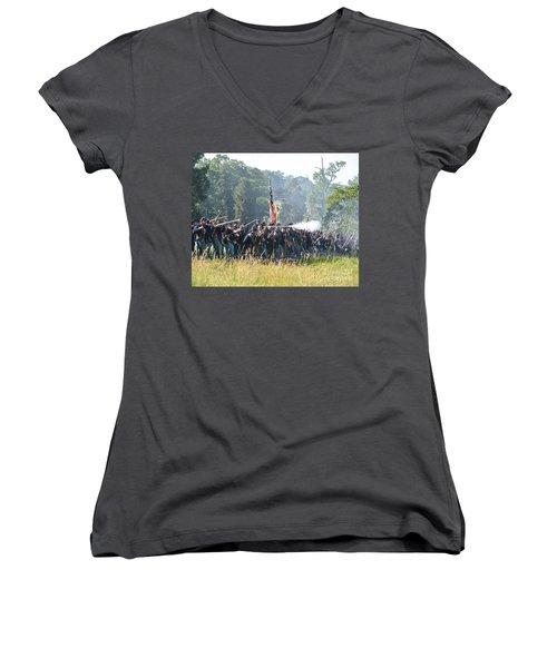 Gettysburg Union Infantry 9372c Women's V-Neck