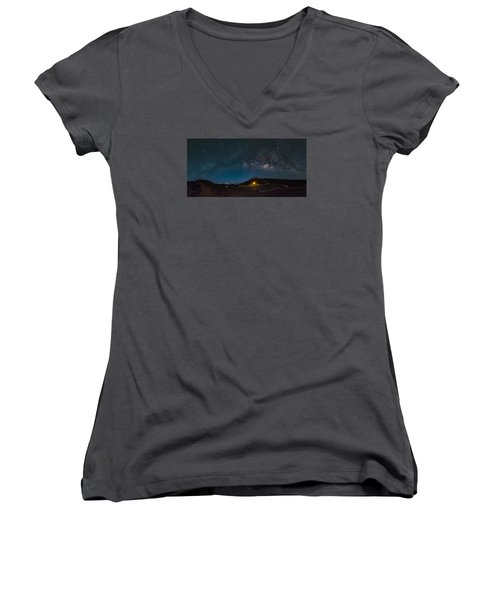 Milky Way Over Haleakala Women's V-Neck (Athletic Fit)