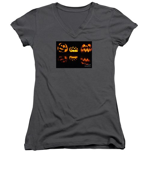 Texas Halloween - No. 2015 Women's V-Neck (Athletic Fit)
