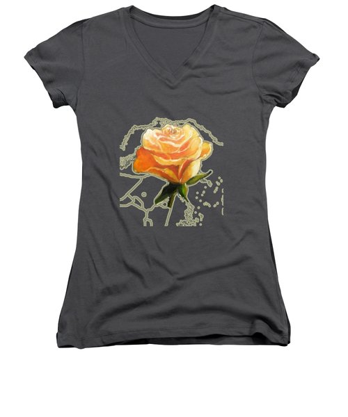 Yellow Roses Women's V-Neck (Athletic Fit)