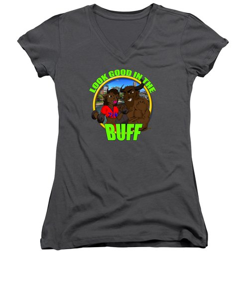 01 Look Good In The Buff Women's V-Neck T-Shirt