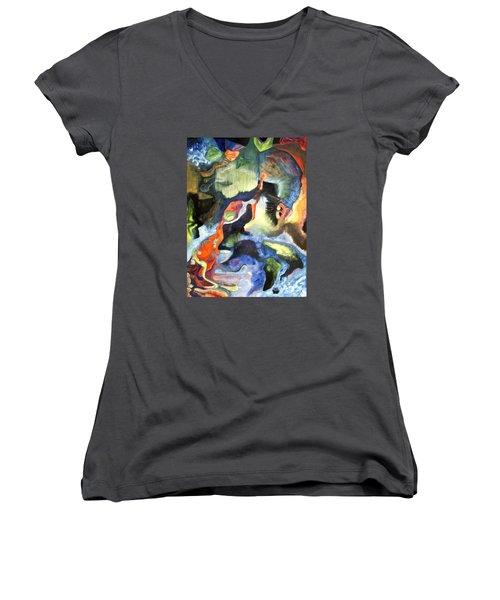 01313 Big Bang Women's V-Neck T-Shirt