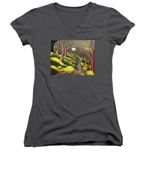 01350  Spring  Women's V-Neck T-Shirt