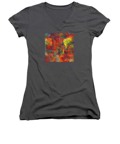 0786 Abstract Thought Women's V-Neck (Athletic Fit)