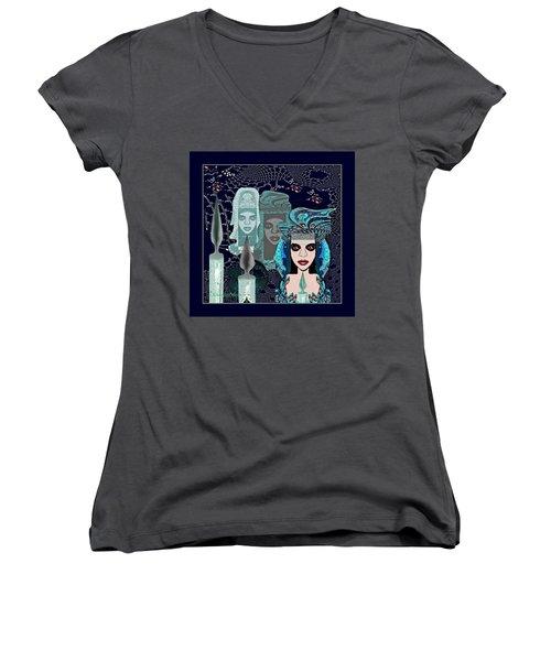082 - Mystic Child 2017 Women's V-Neck T-Shirt