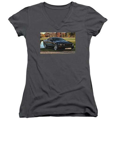 2 Women's V-Neck T-Shirt (Junior Cut) by John Crothers
