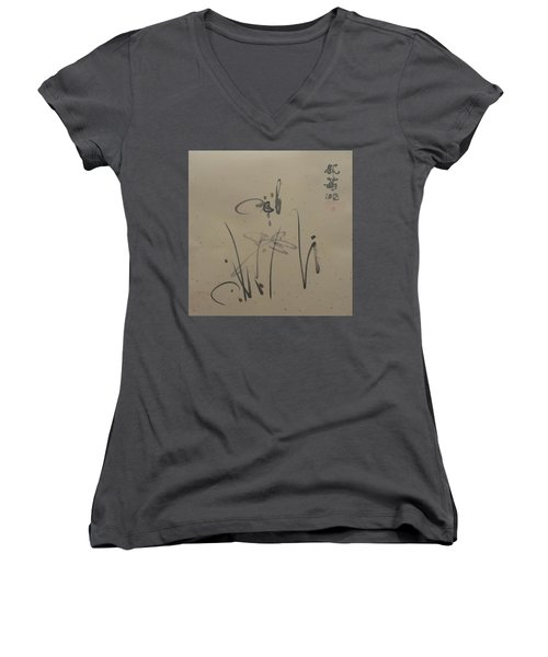 A Leisurely Little Ink Women's V-Neck (Athletic Fit)