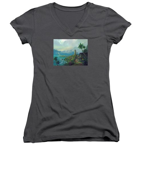 A Small Patch Of Heaven Women's V-Neck T-Shirt (Junior Cut)