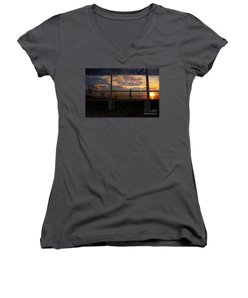 Abstract Silhouettes Women's V-Neck T-Shirt