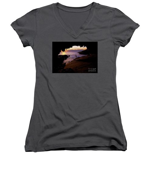 Admiral's  Arch Sunset Women's V-Neck (Athletic Fit)