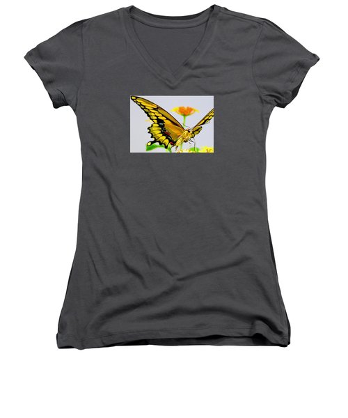 Afternoon Sip Women's V-Neck T-Shirt (Junior Cut)