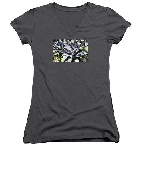 Aloe Women's V-Neck T-Shirt (Junior Cut) by Judy Wolinsky