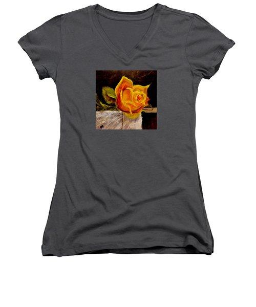 Alone.. Women's V-Neck T-Shirt