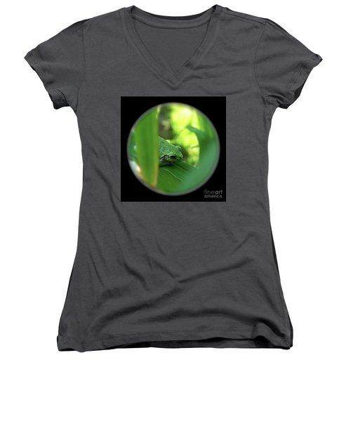 Ambiguous Women's V-Neck T-Shirt (Junior Cut) by Sue Stefanowicz