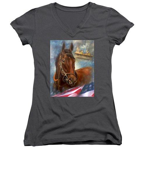American Pharoah Women's V-Neck T-Shirt