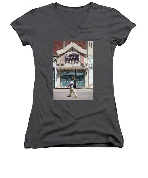 And There Women's V-Neck T-Shirt (Junior Cut) by Jez C Self