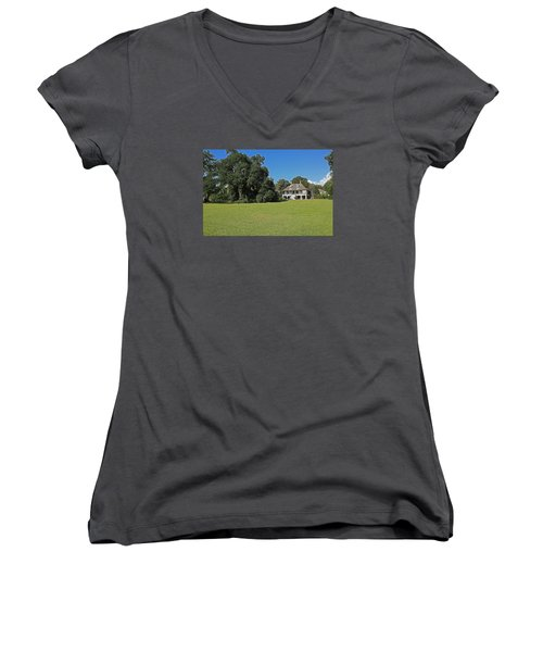Antibellum Home Women's V-Neck (Athletic Fit)