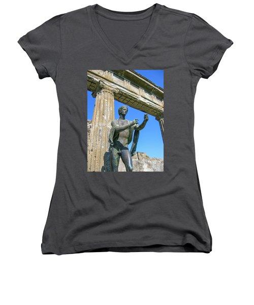 Apollo Women's V-Neck T-Shirt (Junior Cut) by Patricia Hofmeester