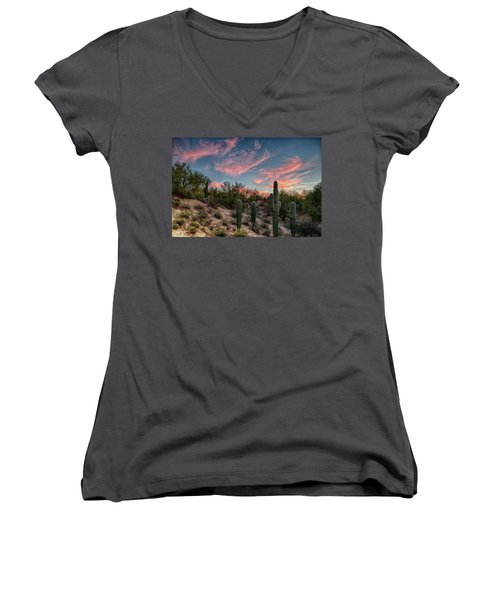 Arizona Sunset Women's V-Neck (Athletic Fit)