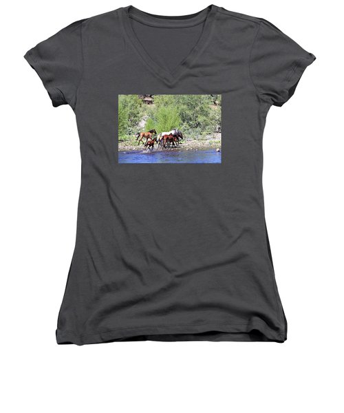 Arizona Wild Horses Women's V-Neck