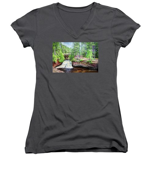 As The Water Falls Women's V-Neck T-Shirt
