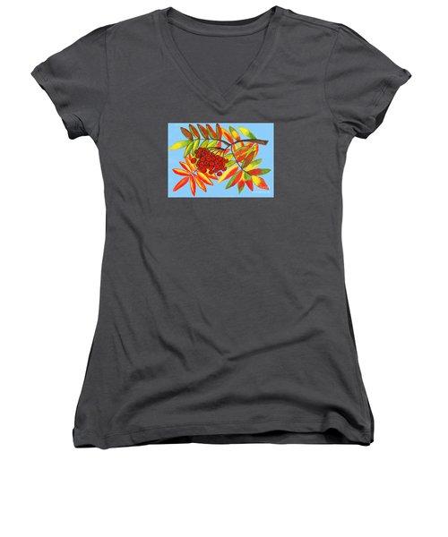 Ashberry, Painting Women's V-Neck T-Shirt (Junior Cut) by Irina Afonskaya