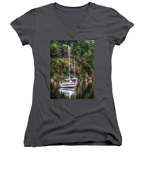 At Anchor Women's V-Neck