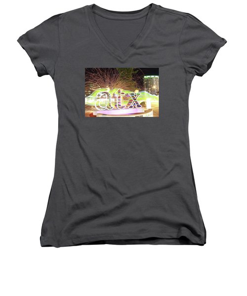 atx Women's V-Neck T-Shirt