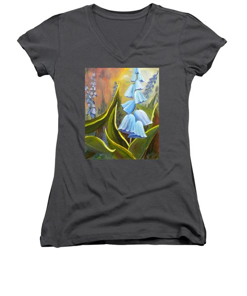 Baby Blues Women's V-Neck T-Shirt (Junior Cut) by Renate Nadi Wesley