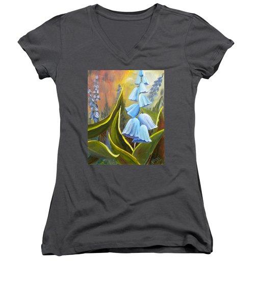 Baby Blues Women's V-Neck T-Shirt (Junior Cut) by Renate Nadi Wesley