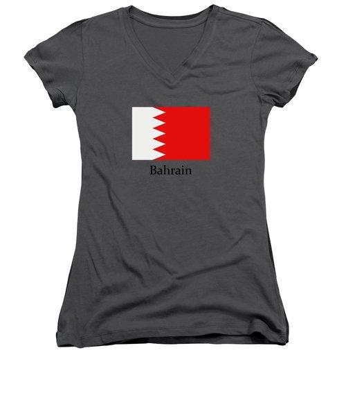 Bahrain Flag Women's V-Neck (Athletic Fit)