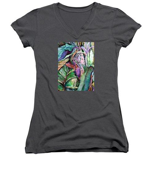 Banana Pod Women's V-Neck T-Shirt (Junior Cut) by Mindy Newman